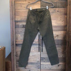 NWT J Crew  Toothpick jeans Sz 29 - olive green